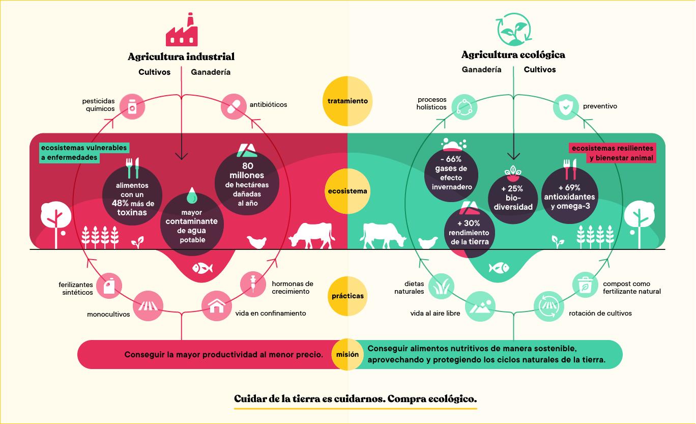 Agricultura industrial vs. Agricultura ecológica
